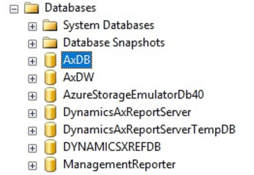 Databases in Microsoft Dynamics 365 for Finance & Operations