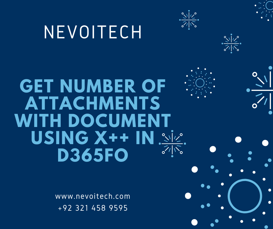 Get number of attachments with document using X++
